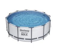 56420 BW, Bestway, Каркасный бассейн 366х122 см, 10250л, фильтр-насос 2006л/ч, тент, лестница, уп.1