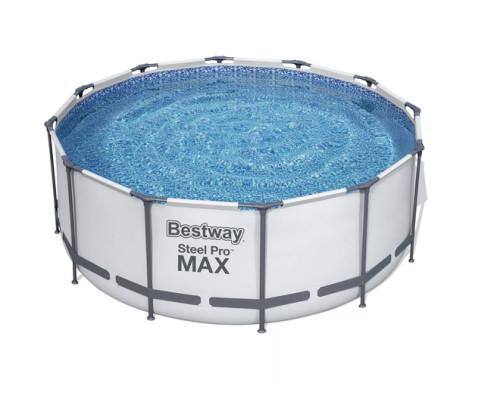 56420 BW, Bestway, Каркасный бассейн 366х122 см, 10250л, фильтр-насос 2006л/ч, тент, лестница