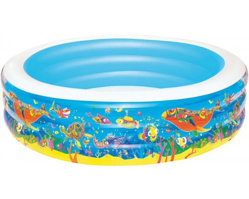 """51122 BW, Bestway, Детский круглый бассейн """"Подводный мир"""", 196х53 см, 700 л, уп.3"""