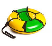 """PT09004, Polytube, Надувная ватрушка (тюбинг) 90см """"Эконом"""" зелено-желтый с автокамерой, уп."""