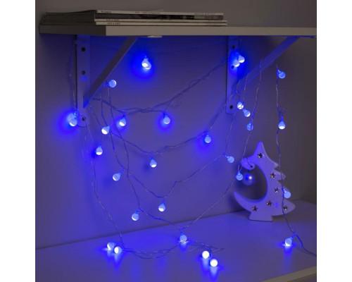 """3590701 Гирлянда """"Нить"""" 5 м с насадками """"Шарики синие"""", IP20, прозрачная нить, 30 LED"""
