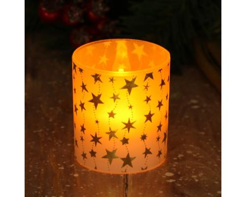 3594058 Электронная свеча «Снежинки», 5 х 5,7 см