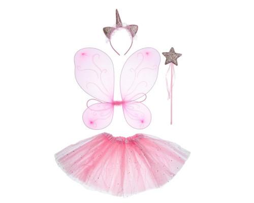 3740626 Карнавальный набор «Единорог», 4 предмета: крылья, юбка, ободок, жезл