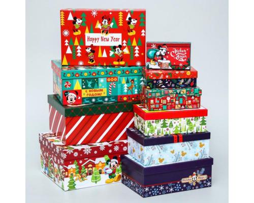 """5129874 Набор коробок 10 в 1 """"С Новым Годом!"""", Микки Маус"""