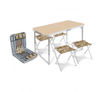 ССТ-К2/1 Набор складной стол и 4 стула, металлик хант, до 20/90 кг
