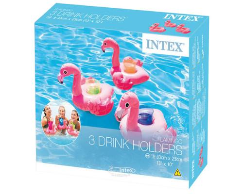 """57500, Intex, Надувной плавающий держатель для напитков 28х25х20см """"Фламинго"""" комплект из 3 шт,"""