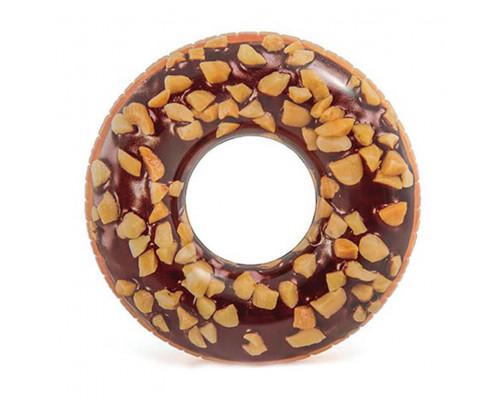 """56262, Intex, Надувной круг """"Пончик шоколад"""" 114см"""