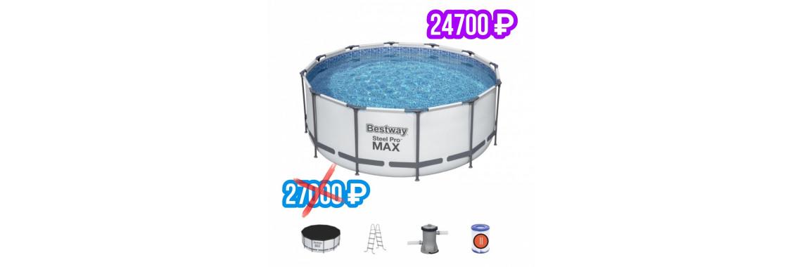 Каркасный бассейн 366х122 см